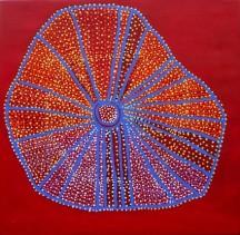 Shorty Jangala Robertson Ngapa Jukurrpa (Water Dreaming) - Puyurru 2010 acrylic on linen 91 x 91 cm 4819/10