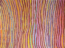 Liddy Napananka Walker Ngalyipi Jukurrpa (Bush Tomato Dreaming) ASAALW2257 2007 122x122cm Acrylic paints on linen