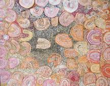 Naata Nungurrayi Marrapinti ASAANN1404 2005 180x150cm Acrylic paints on linen SOLD