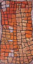 Naata Nungurrayi Marrapinti ASAANN2223 2007 91x46cm Acrylic paints on linen SOLD
