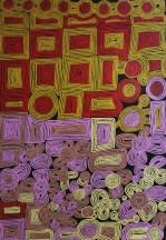 Ronnie Tjampitjinpa Yarryarrunya ASAART1172 2007 290x190cm Acrylic paints on linen SOLD