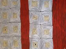 Ronnie Tjampitjinpa Tingari ASAART1210 186x126cm Acrylic paints on linen SOLD