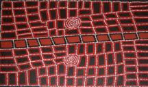 Walala Tjapaltjarri Tingari Story ASAAWT1134 2005 120x90cm Acrylic on Linen