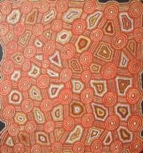 Willie Tjungurrayi Tingari Cycle ASAAWT1222 84x84cm Acrylic paints on linen SOLD