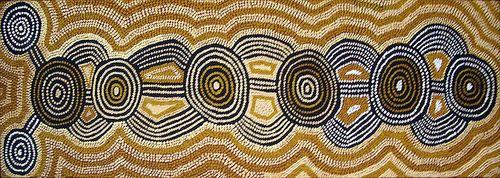 Yala Yala Gibbs Kuningka (Western Quoll) ASAAOM09 1987 86.5x26.5cm Acrylic paints on linen