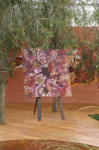 Gabriella Possum painting that was presented to HRH Queen Elizabeth II on 21st May 2008 at the Chelsea Flower Show.