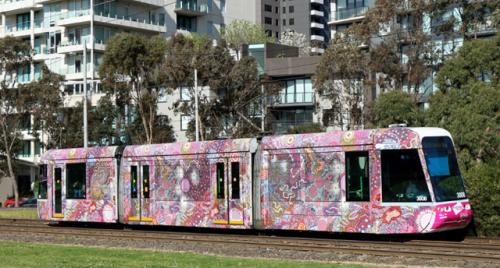 Gabriella Possum Melbourne Festival Art Tram