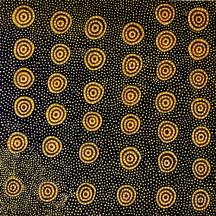 Kuddtji Kngwarreye Emu Dreaming ACAAKK0401 2004 95x95cm Acrylic paints on linen