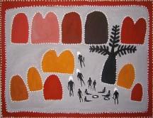 Queenie McKenzie Horso Creek Massacre ACAA6826 115x76dm Acrylic paints on linen SOLD