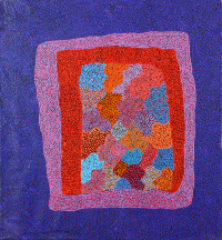 Josie Petrick Bush Berry Dreaming ASAAJP2180 2007 106x98cm Acrylic paints on linen SOLD