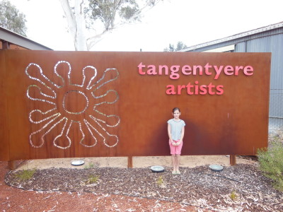 Milly Knight at Tangentyere Artists opening
